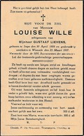 Impe, Wanzele, 1937, Louise Wille, Lievens - Images Religieuses
