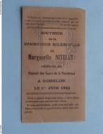 Communion Solennelle De Marguerite NITELET à GOSSELIES Le 1 Juin 1933 ( Voir / Zie Photo ) Disciples D'Emmaüs ! - Communion