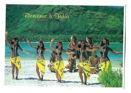 POLYNESIE----Bienvenue à TAHITI---( Danse Vahiné )---voir 2 Scans - Polynésie Française