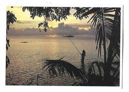 POLYNESIE----coucher Du Soleil Sur Motu-tapu à BORA-BORA---( Vahiné )---voir 2 Scans - Polynésie Française