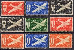 FRANCE !  Timbres Anciens AÉRIENS De L'ETABLISSEMENT De L'INDE NEUFS De 1942 - Unused Stamps