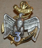 Rare Insigne 3° Régiment D'Infanterie De Marine, BAZEILLES - Autres