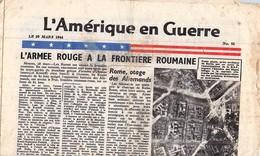 Ww2 Tract Américain 29 Mars 1944 Larguè Par Avion Appellé Aussi Courrier De L'air - 1939-45