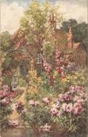"""""""S.Shelton. Flower In A Cotage Garden"""" Tuck Oilette Postcard # 2886 - Tuck, Raphael"""