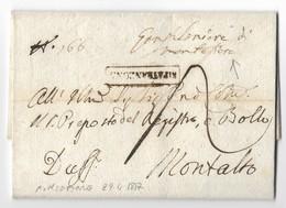 DA MONTEFIORE A MONTALTO - 28.4.1817. - Stato Pontificio