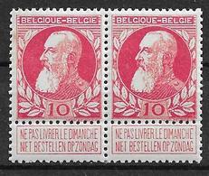 OBP74 In Paar, Postfris** - 1905 Grosse Barbe