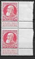OBP74 In Paar, Postfris** Met Scharnier Op Bladboord - 1905 Grosse Barbe