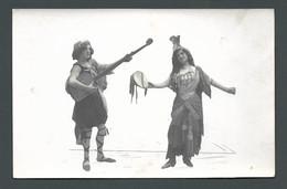 Duo De Femmes Musicienne Danseuse Cliché Détouré  MUSY à LAUSANNE PHOTO Carte MONTAGE - Anonyme Personen