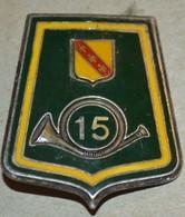 Rare Insigne 15° Régiment De Chasseurs, Réserve - Army
