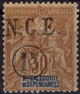 NOUVELLE-CALEDONIE Poste  56 (*) Groupe Surcharge N-.C.E. Ronde Kégèrement Décalée 1900-1901 - Used Stamps