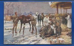 Militaire Anglais  Soins Aux Chevaux Blessés A La Guerre     Illustrateur: L.V.C - Guerra 1914-18