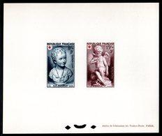 Epreuve Collective YT N° 876 - 877 - Cote: 550 € - Croix Rouge 1950 - Prove Di Lusso