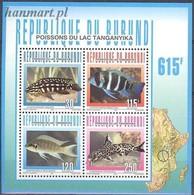Burundi 1996 Mi Bl 139 MNH ( ZS4 BURbl139dav37A ) - Fishes