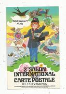 Cp, Bourses & Salons De Collections, 2 E Salon De La Carte Postale,1976 ,hôtel Georges V ,Paris , 2 Scans , Tampon - Sammlerbörsen & Sammlerausstellungen