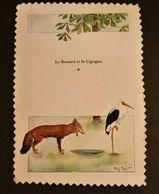 E10 / Cpsm Le Renard Et La Cigogne Illustrateur Morin Fable Voyagée VOIR DOS - Morin, Henri