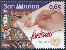 San Marino 2012 Correo 2314 50 Aniversario De La Produccion De Ceramica Faetano - San Marino
