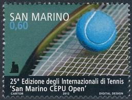 San Marino 2012 Correo 2322 25 Edición De Tenis Open En San Marino  **/MNH - San Marino