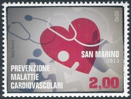 San Marino 2013 Correo 2345 Prevencion Enfermedad Cardiovascular  **/MNH - Neufs