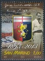 San Marino 2013 Correo 2343 120 Aniv De Futbol Club De Genoa - Italia  **/MNH - San Marino