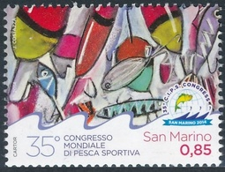 San Marino 2014 Correo 2382 35 Aniv. Conferencia Internacional De La Pesca Depo - San Marino
