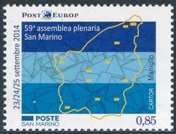 San Marino 2014 Correo 2400 59 Asamblea Plenaria De San Marino  **/MNH - San Marino