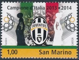 San Marino 2014 Correo 2399 Juventus Campeon De Italia 2013-14  **/MNH - San Marino
