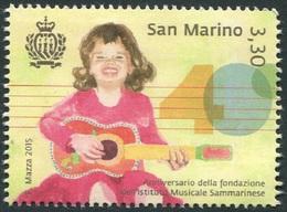 San Marino 2015 Correo 2445 40A Instituto Musical  **/MNH - Neufs