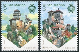 "San Marino 2017 Europa Z020173A San Marino 2017 ""Castillos""  (2v) - Nº2500/01 - Neufs"