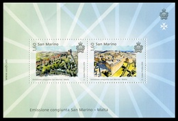 San Marino 2017 Correo 2476/77 HB Emision Conjunta Malta O HB 69  **/MNH - Saint-Marin