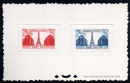Epreuve Collective YT N° 911 - 912 - Cote: 650 € - Nations Unies - Epreuves De Luxe