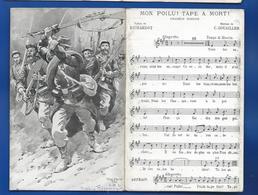 Dépliant   Chant Mon Poilu !Tape A Mort ! - Guerra 1914-18