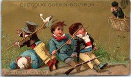 Chromo - Chocolat Guérin Boutron - A Son Apparition L'effet Fut Terrible- Enfants (état : Dos) - Guerin Boutron