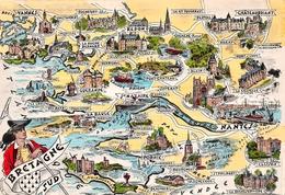 """¤¤   -  Carte Du Département De La LOIRE-ATLANTIQUE  -  Illustrateur """" HOMUALK """"   -   ¤¤ - France"""