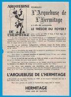 ARQUEBUSE DE L'HERMITAGE INVENTEE PAR  FRERES MARISTES 1857 SAINT GENIS-LAVAL PRES LYON CENT ANS DE SUCCES AU DOS IMAGES - Publicités