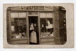 - CPA SOTTEVILLE (50) - MERCERIE BONNETERIE LEFEBVRE 1912 - - Andere Gemeenten