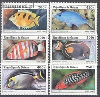 Guinea 1997 Mi 1645-1650 MNH ( ZS5 GUR1645-1650 ) - Fishes