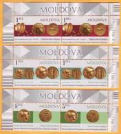 2018 Moldova Moldavie Moldau Hidden Treasures. Golden Coins. Larguta. National Museum 2v Mint - Museums