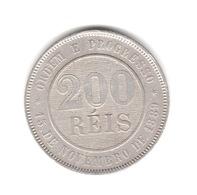 200 REIS 1893 CUPRO-NICKEL RIO DE JANEIRO - Brasilien