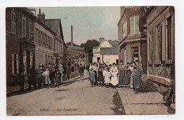 - CPA MÉRU (60) - Rue D'Andeville 1906 (belle Animation) - Edition E. M. - - Meru