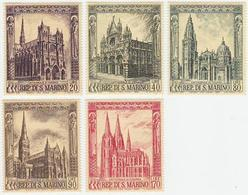 San Marino 1967 Correo 704/08 Catedrales Góticas (5v)  */NH - Nuovi