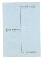 Programme - MARCHE - EN - FAMENNE - Athénée Royal - Fête Scolaire 1950 (b273) - Programma's