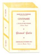 Programme - MARCHE - EN - FAMENNE - Centenaire De L'Ecole Moyenne Athénée Royal   1951 (b273) - Programs