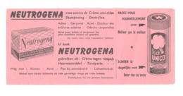 """Buvard Publicitaire """" NEUTROGENA """" Savon, Mousse à Raser, Shampooing, Dentifrice, Crème,... (b273) - Parfums & Beauté"""