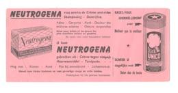 "Buvard Publicitaire "" NEUTROGENA "" Savon, Mousse à Raser, Shampooing, Dentifrice, Crème,... (b273) - Parfum & Kosmetik"