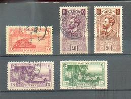GAB 336 - YT 124 - 134 - 136 - 140A - 141 A ° Obli - Gabon (1886-1936)