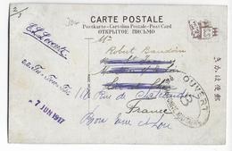 CHINA - 1917 - CARTE De HONG-KONG Avec CENSURE FRANCAISE => BROU (FRANCE) - Hong Kong (...-1997)