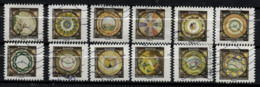NOUVEAUTE SÉRIE COMPLÈTE 12 TIMBRES 2019 ASSIETTES - Used Stamps