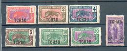 TCHAD 101  - YT 1 à 5 - 7 - 14 * - Tchad (1922-1936)