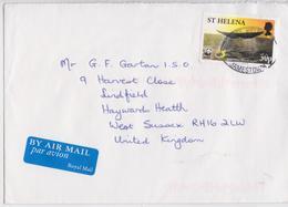 Lettre Saint-Hélène Timbre Baleine WWF Jamestown Saint Helena Cover Whale Stamp - Sint-Helena