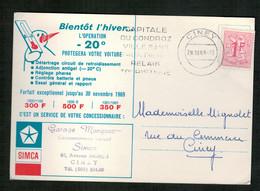 Publicité Garage Marquet - Agence Simca - CINEY - Publicité